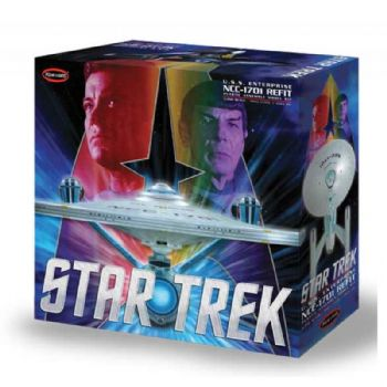 STAR TREK USS ENTERPRISE REFIT 1:350 SCALE MODEL KIT POLAR LIGHTS